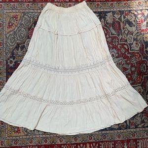 VTG Tiered Boho Maxi Skirt